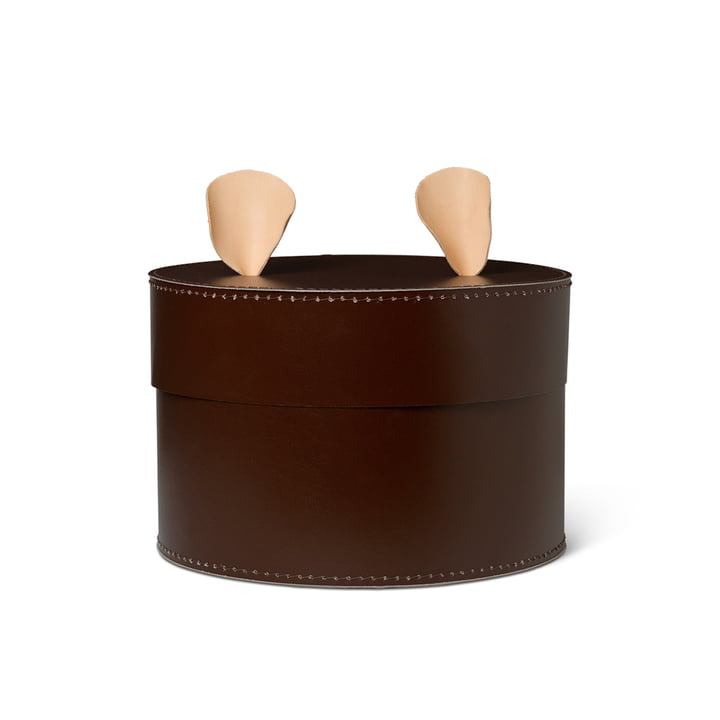 Bear storage box by ferm Living in brown