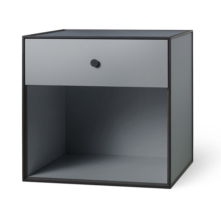 Frame 49 with 1 drawer from by Lassen in dark grey