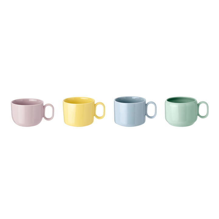 Mix'n'Match Cups (set of 4) from Rig-Tig by Stelton in blue / yellow / pink / green