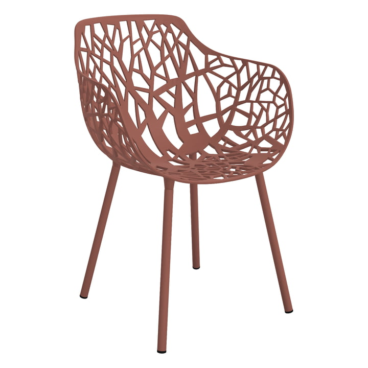 Forest Armchair (Outdoor) by Fast in terracotta