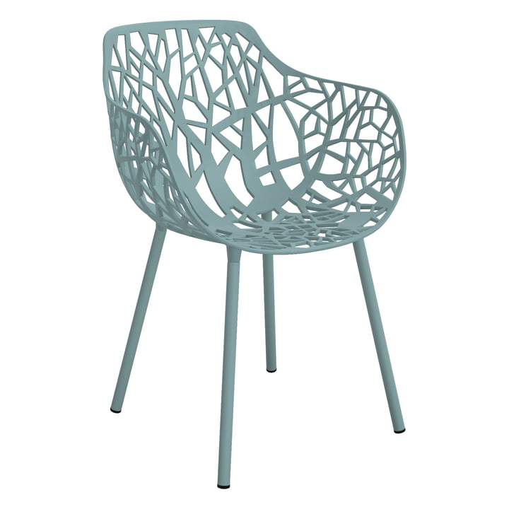 Forest Armchair (Outdoor) by Fast in light blue