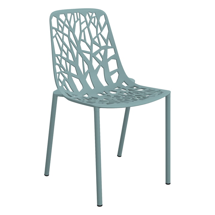 Forest stacking chair (outdoor) by Fast in light blue