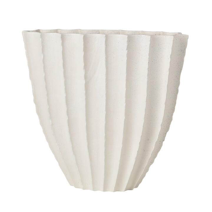 Debbie Vase H 35 cm, white from Broste Copenhagen