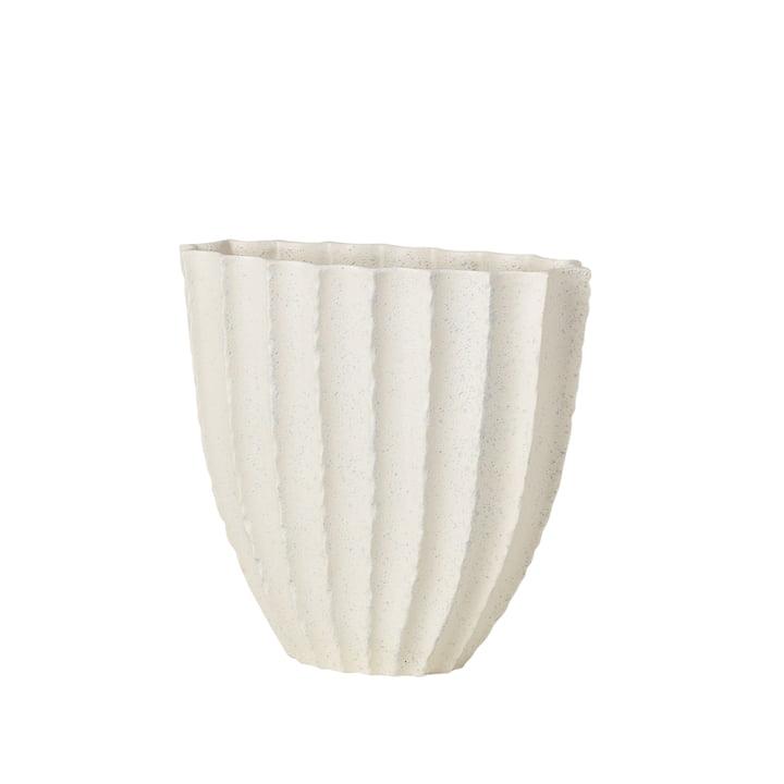 Debbie Vase H 25 cm, white from Broste Copenhagen