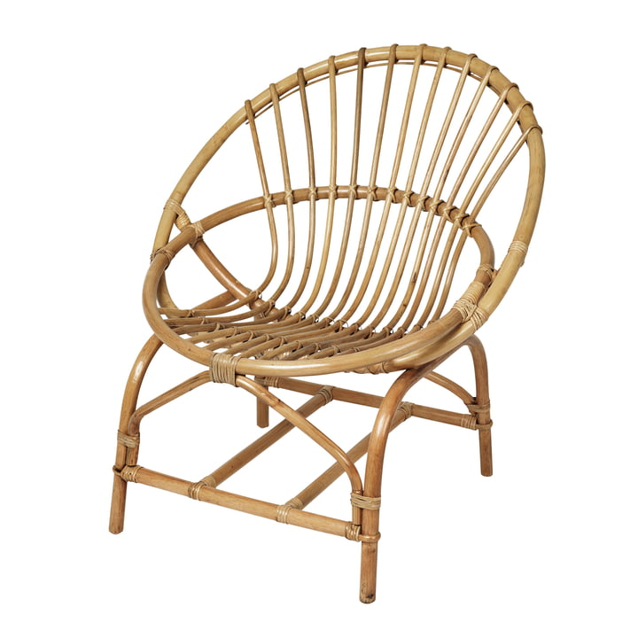 Frida Rattan chair, honey from Broste Copenhagen