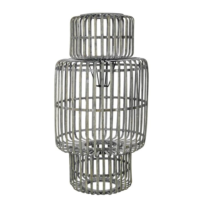 Zelly Bamboo lampshade, Ø 35 x H 65 cm, metal grey by Broste Copenhagen