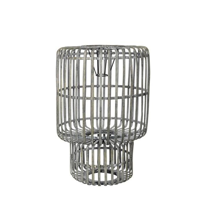 Zelly Bamboo lampshade, Ø 35 x H 50 cm, metal grey by Broste Copenhagen