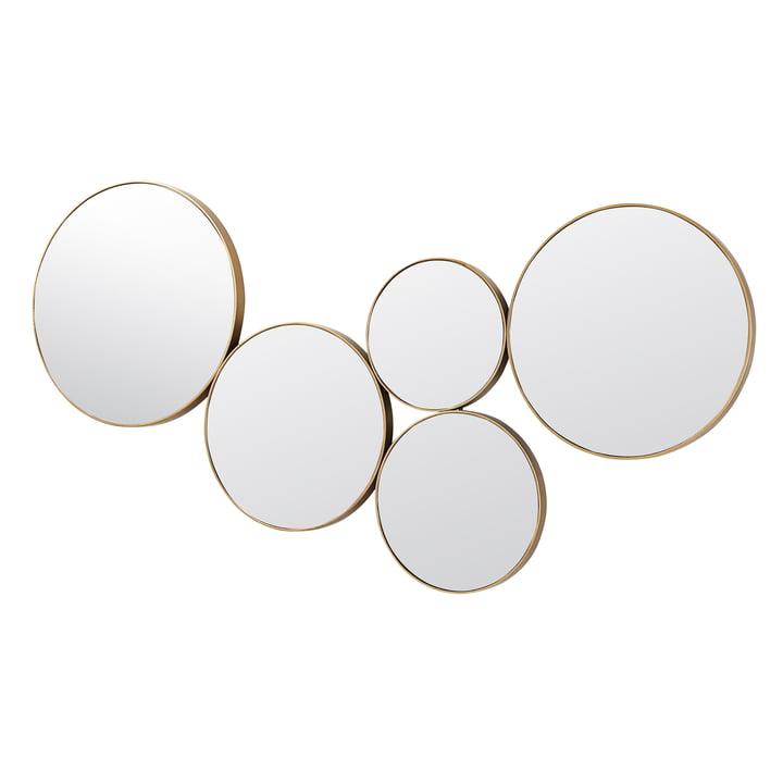 Kunst Mirror, brass from Broste Copenhagen