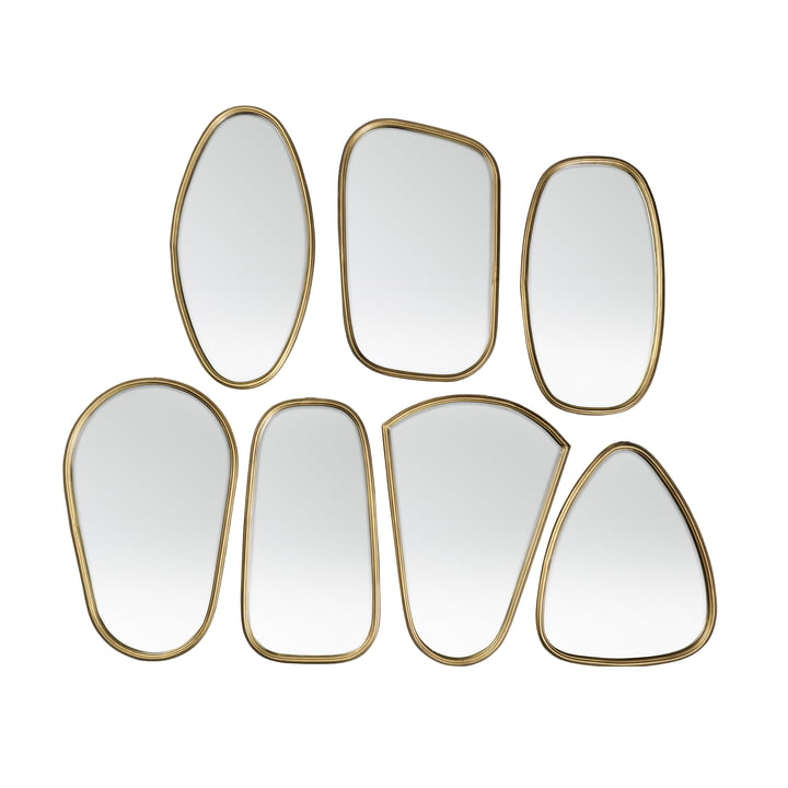 Art Mirror, brass (7 pcs.) from Broste Copenhagen
