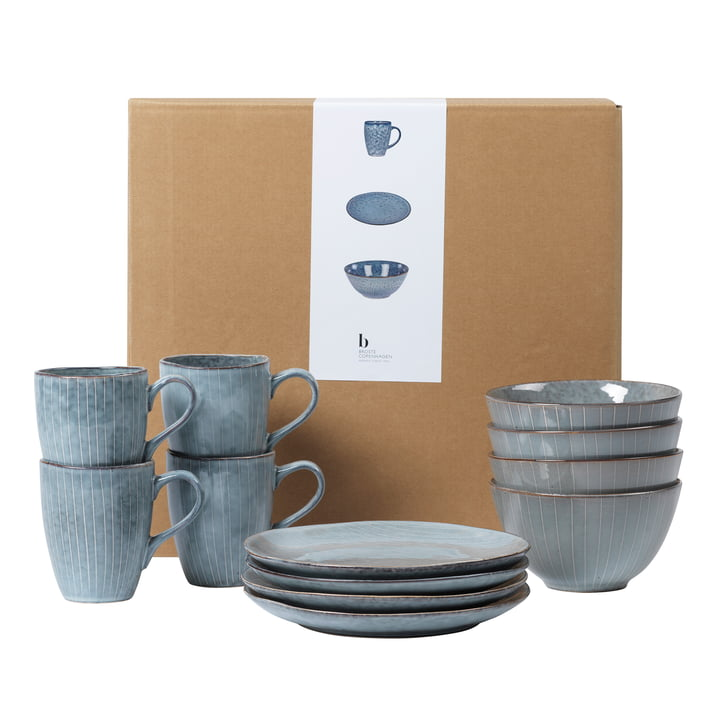 Nordic dishes breakfast set, sea from Broste Copenhagen