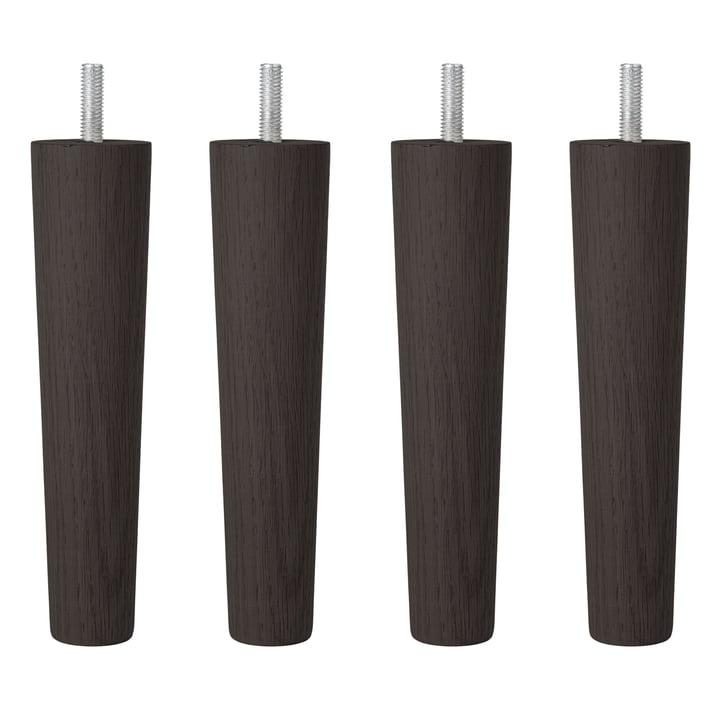 Replacement/accessories: legs for Wind / Air / Ocean, beech black (set of 4) from Broste Copenhagen