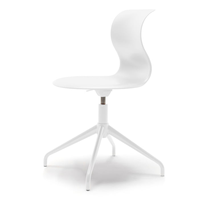 Pro Chair four-star aluminium frame by Flötotto in snow white