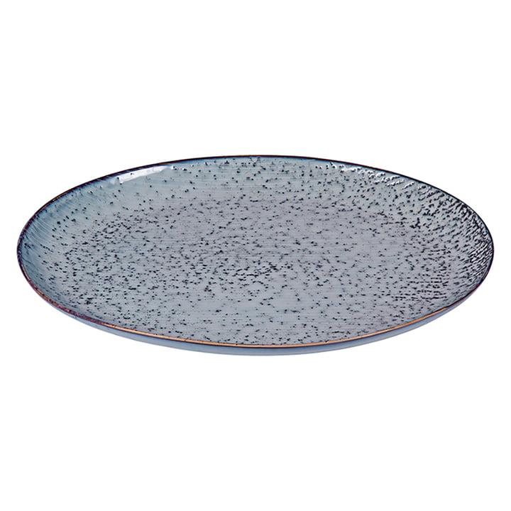 Nordic serving platter oval, 35.5 x 26.5 cm, sea by Broste Copenhagen
