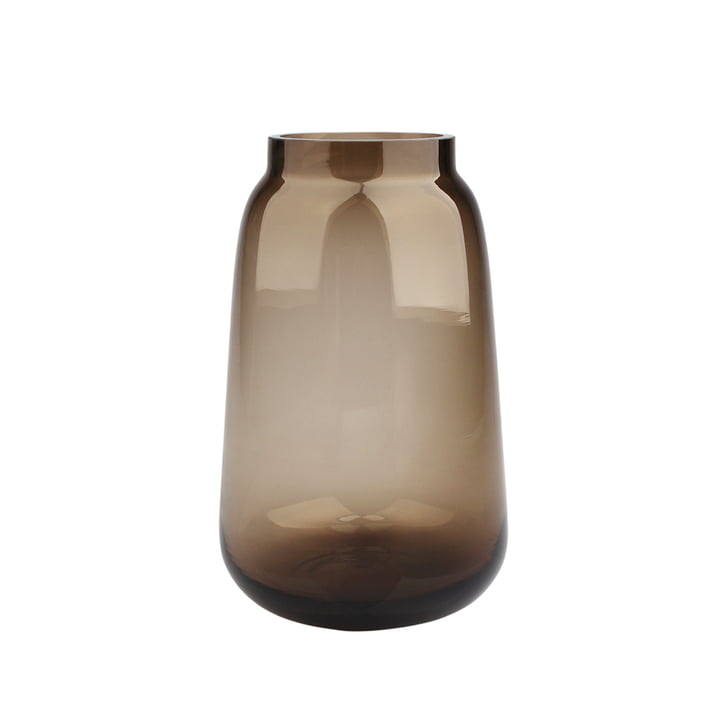 Bou Vase Ø 15 x H 24 cm, brown from Connox Collection