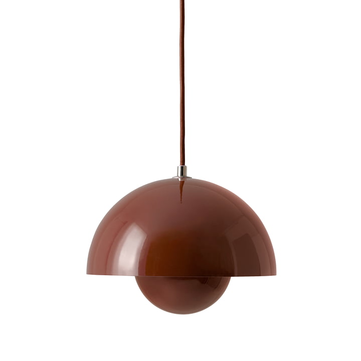 FlowerPot pendant lamp VP1 from & Tradition in red-brown