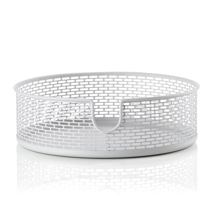 Metal storage basket Ø 20 x H 6,5 cm from Zone Denmark in white