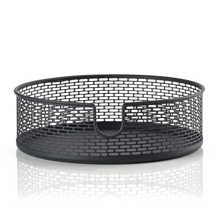 Metal storage basket Ø 20 x H 6,5 cm from Zone Denmark in black