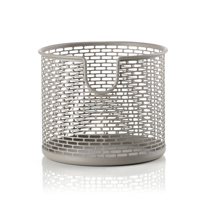 Metal storage basket Ø 12 x H 10 cm from Zone Denmark in taupe