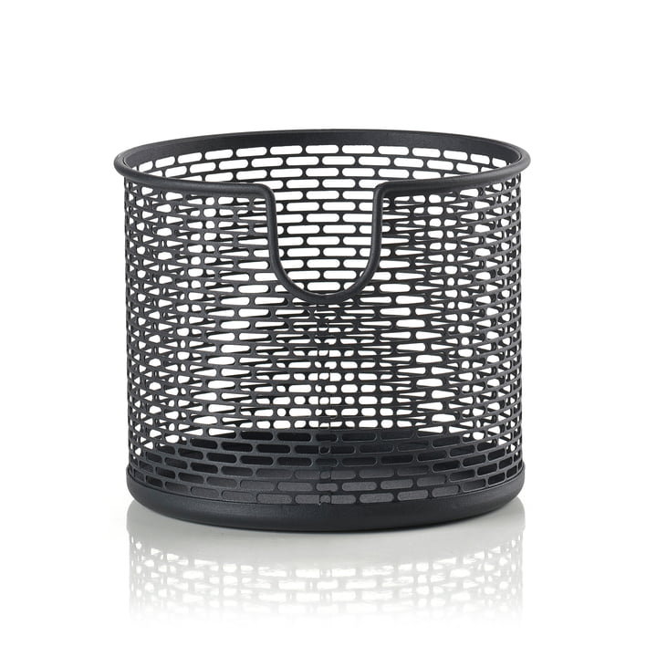 Metal storage basket Ø 12 x H 10 cm from Zone Denmark in black