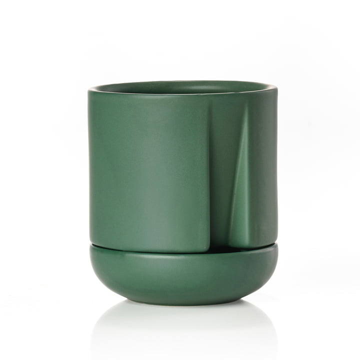 Self-watering herb pot Herb & Sprout Ø 10 x H 1 1. 6 cm from Zone Denmark in jungle green