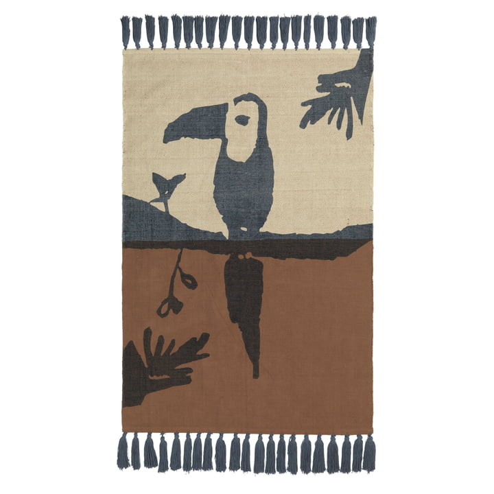 Toucan children carpet from Nofred in brown