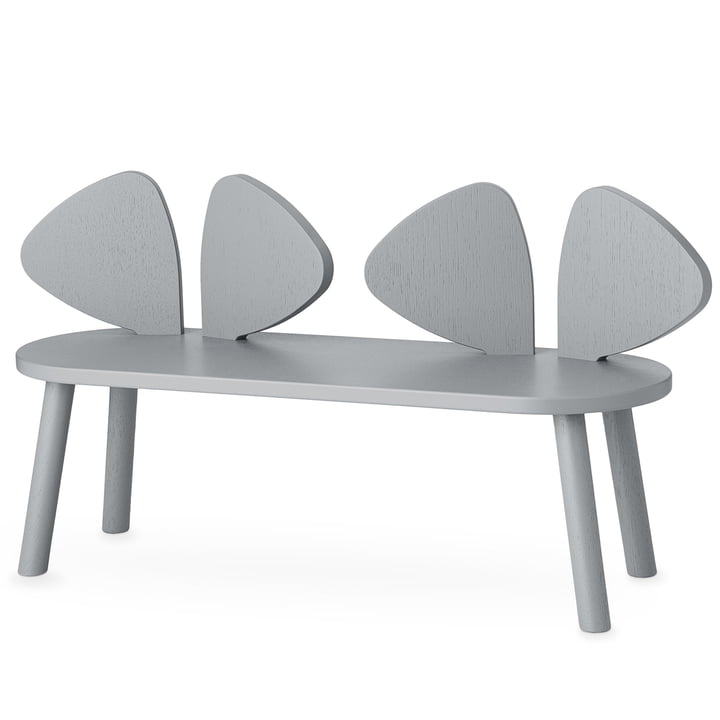 Mouse Children's bench from Nofred in grey