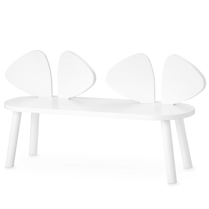 Mouse Children's bench from Nofred in white