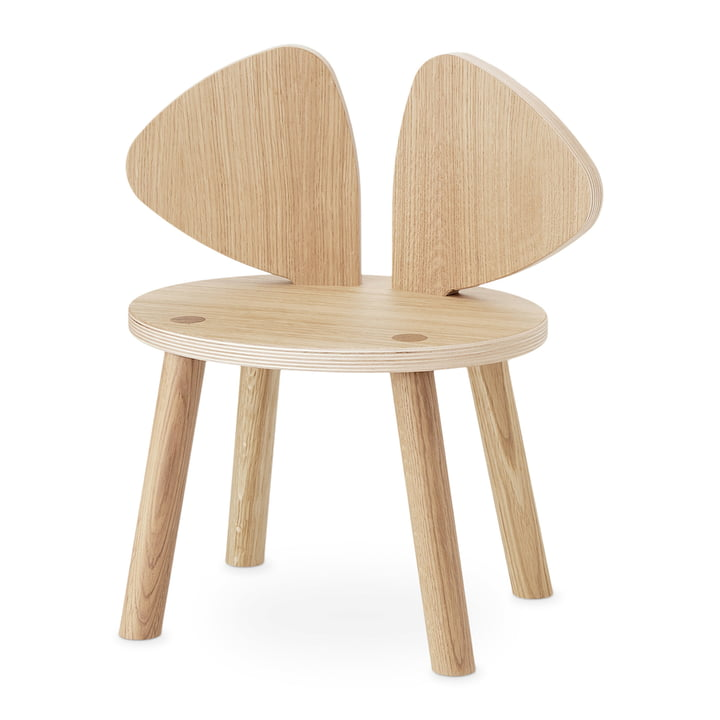 Mouse Kids chair from Nofred in oak matt lacquered