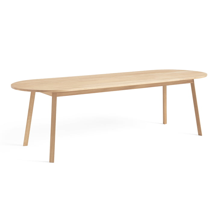 Triangle Leg dining table 200 x 85 cm from Hay soaped in oak