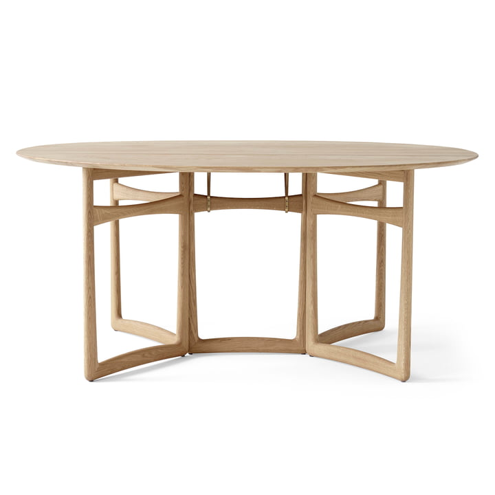 Drop Leaf HM6 Dining table from & tradition in white oiled oak