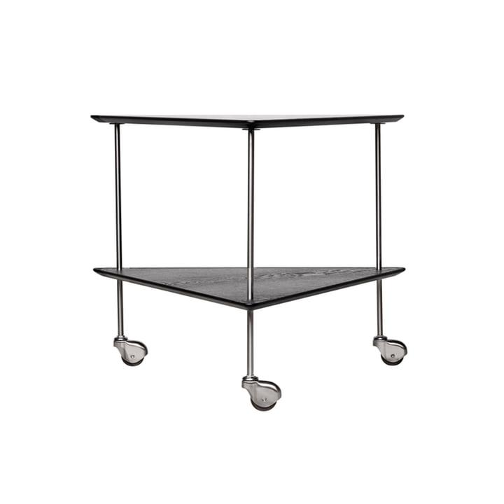 AJ Trolley side table by Fritz Hansen in black / chrome ash