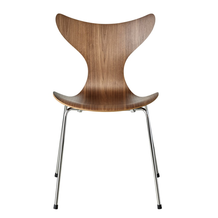 Lilie chair by Fritz Hansen in walnut / chrome