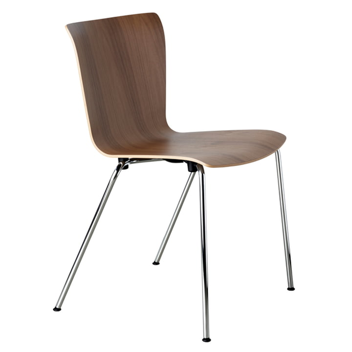 Vico Duo chair by Fritz Hansen in walnut / chrome