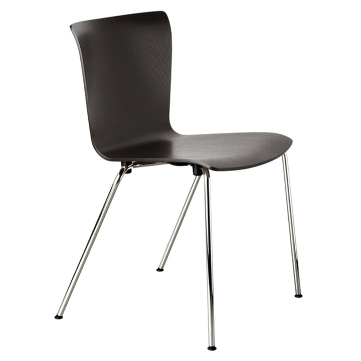 Vico Duo chair by Fritz Hansen in black / chrome ash