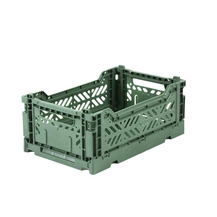 Folding box Mini 27 x 17 cm from Aykasa in almond green