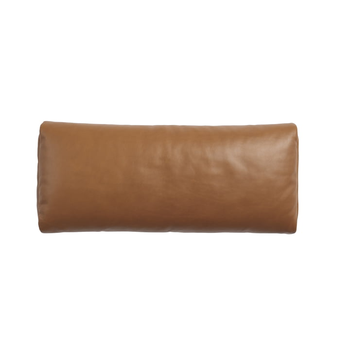 Cushion for Outline Daybed, black / Refined leather cognac by Muuto