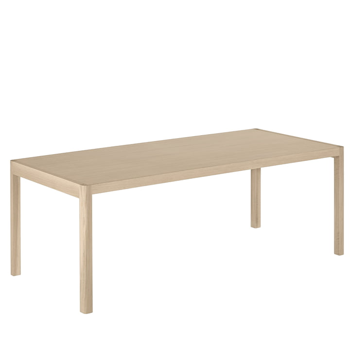 Workshop dining table, 200 x 92 cm, oak from Muuto