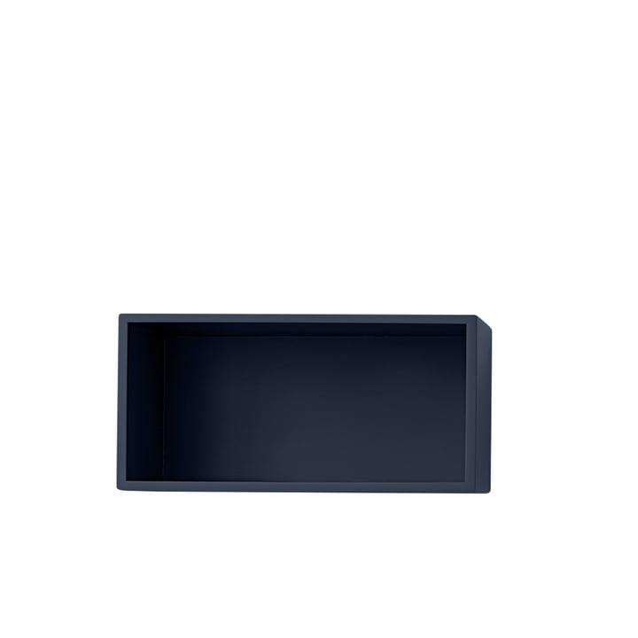 Mini Stacked Shelf module 2. 0, small / midnight blue from Muuto