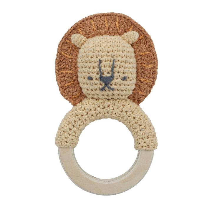 Crochet Rattle Lion from Sebra in savannah yellow