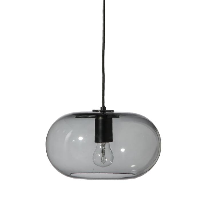 Kobe pendant lamp Ø 30 cm, glass smoke / black from Frandsen