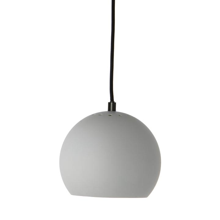 Ball Pendant lamp Ø 18 cm, light grey matt / white from Frandsen