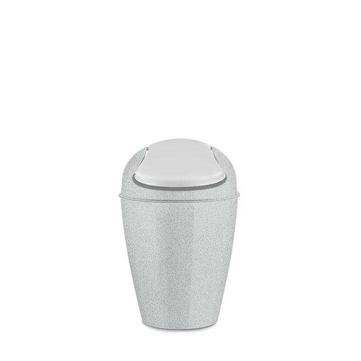 DEL S swing lid pail 5 l from Koziol in organic grey