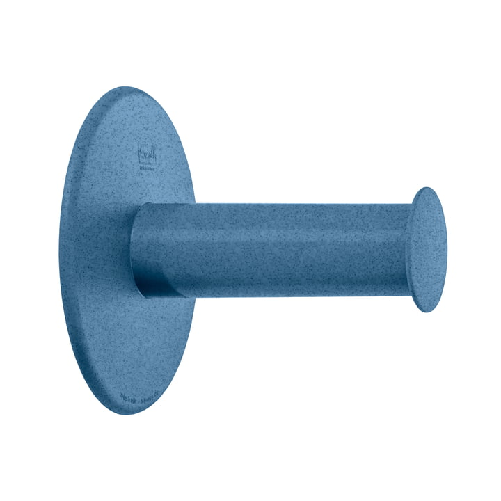 Plug'n Roll Toilet paper holder from Koziol in organic deep blue