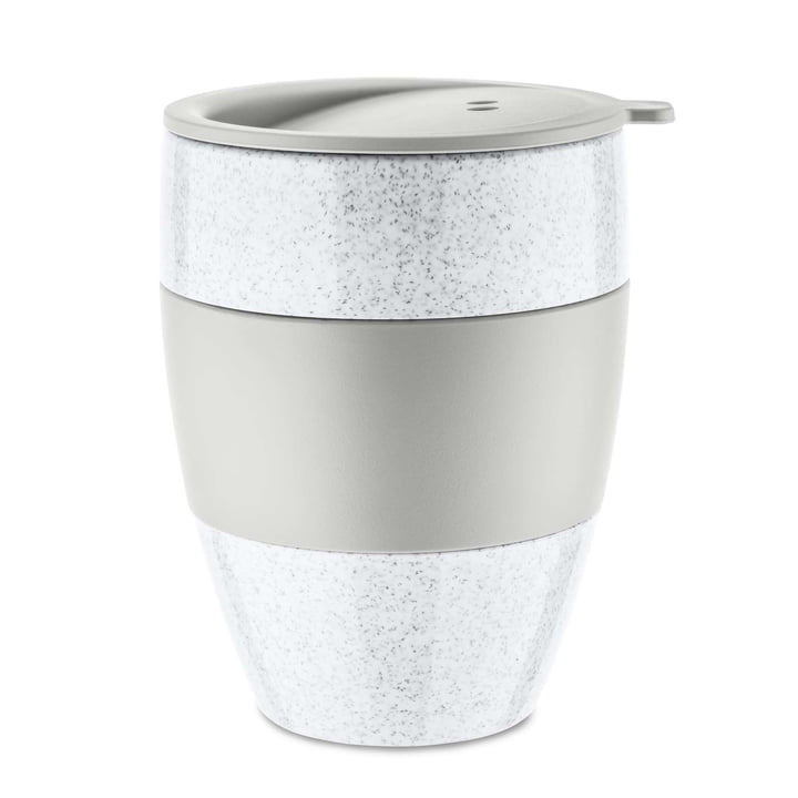 Aroma to go Thermo mug with lid 400 ml from Koziol in organic grey