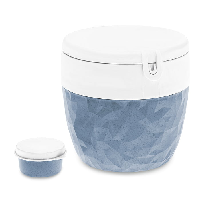 Club Bentobox from Koziol in organic blue (3 pcs.)