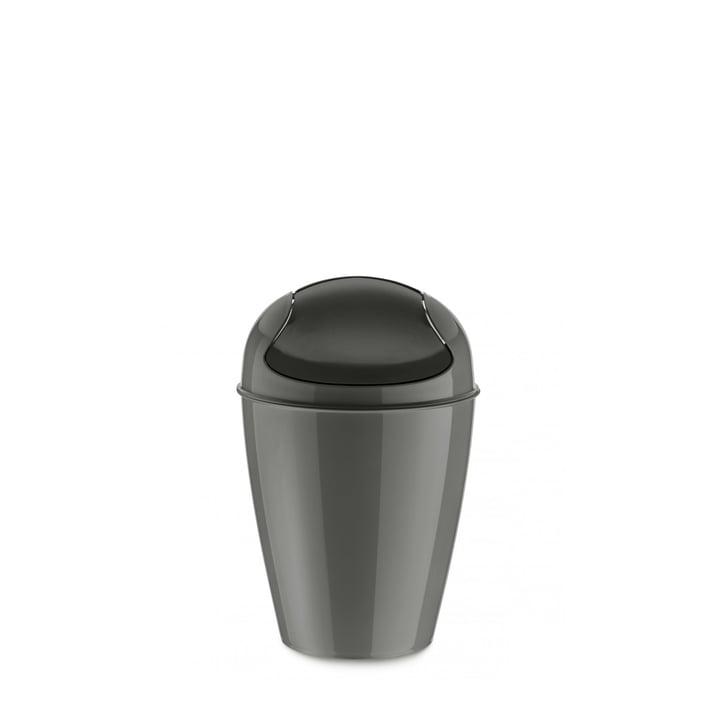 DEL S swing lid pail from Koziol in deep grey