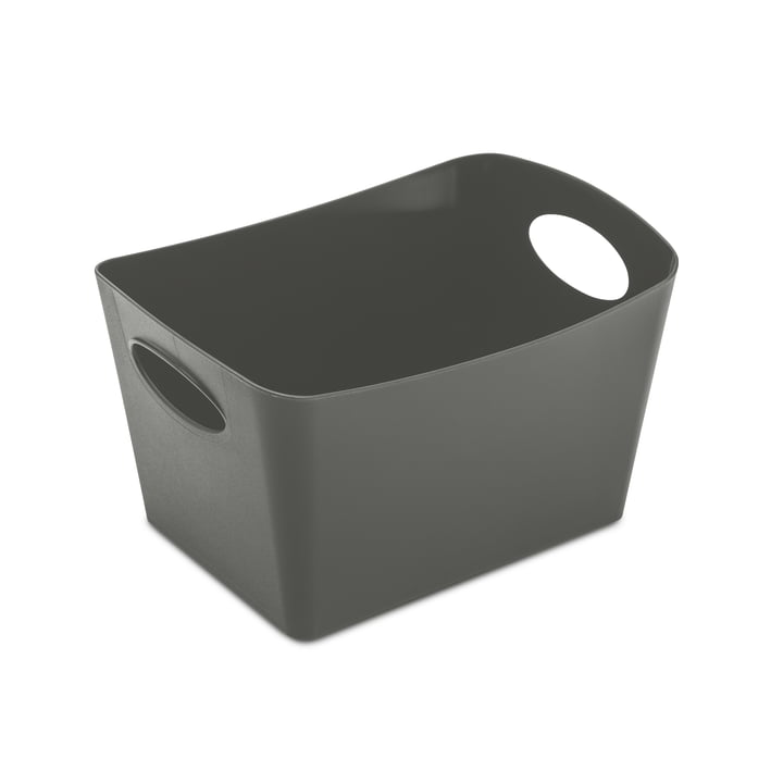 Boxxx S storage box from Koziol in deep grey