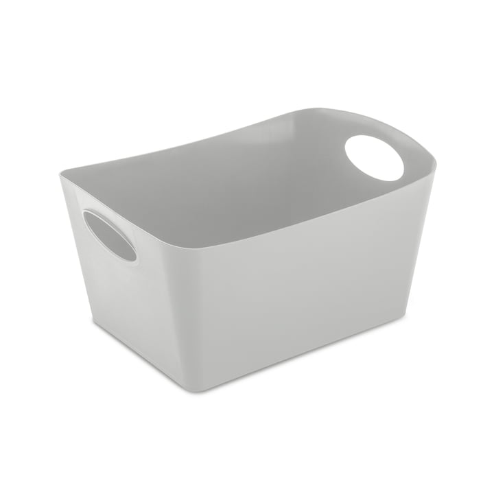 Boxxx M storage box from Koziol in soft grey