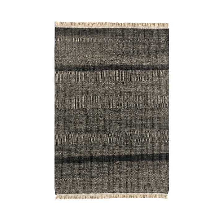 Tres Stripes Outdoor carpet 170 x 240 cm from nanimarquina in black
