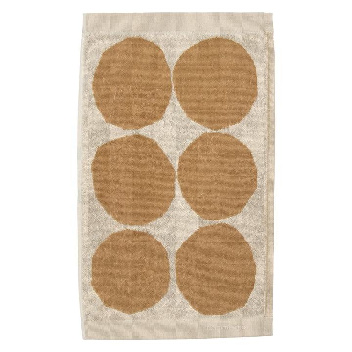 Kivet guest towel 30 x 50 cm from Marimekko in cotton white / beige